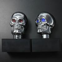 Wholesale Skull Shift Knobs Manual - Universal Car Chrome Skull Auto Manual Gear Stick Shift Knob Lever AUP_50E