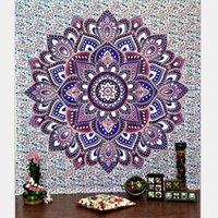 Wholesale Stripe Tablecloth - Bohemia Indian Mandala Beach Throw Printed Tapestry Hippy Tablecloth Beach Towel Yoga Polyester square Mat screen Shawl cappa
