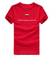 Wholesale Flashing Party Wear - Venezuela T shirt Celebrate day sport short sleeve Party wear tee National flag clothing Unisex cotton Tshirt