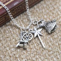 Wholesale Wholesale Spinning Wheels - 12pcs lot Sleeping Beauty Inspired Charm Necklace spinning wheel skirt charm Necklace