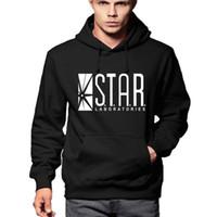 Wholesale boy hoodie star sleeves for sale – custom Autumn Winter Men Hoodies Full Sleeve Overcoat Fashion STAR Labs black Male Street Skateboard Sweatshirt Boys Personalized Men H