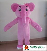 Wholesale Elephant Pink Party - AM8206 Pink Elephant Mascot costume animal mascot outfit party costumes adult fancy dress free shipping