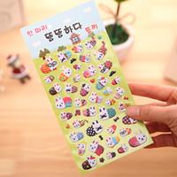Wholesale Family Sheet - Wholesale- 1 Sheet DIY Cartoon 3D Rabbit Family 3D Sponge Bubble Sticker Kids Children Gift Toy