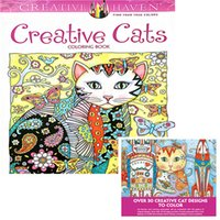 Wholesale Newest Children Books - 2017 Newest Creative Cats Coloring Books Adult Antistress Children Gifts Secret Garden Series Painting Books Drawing Book Colouring Books