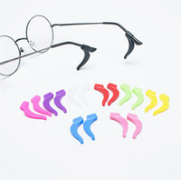 Wholesale Glasses Ear Lock - 10prs lot quality up-grade eyeglass glasses silicone Anti-Slip ear hook lock temple tip holder super-soft eyewear accessories