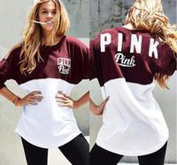 Wholesale Block Standard - Autumn Fashion sweatshirts love pink peach heart love letter pattern neon color block hoodie thickening slim sweatshirt tracksuits clothing