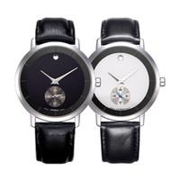 Wholesale Sinobi Male Watch - SINOBI Fashion Men's&Women's Wrist Watches 10Bar Waterproof Leather Watchband Luxury Brand Males Geneva Quartz Clock Montres Hommes 2017