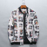 Wholesale High Trading - Foreign trade new jacket men fashion stand collar digital printing jacket high-end stock
