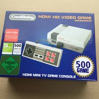 Wholesale Games Console Android Free Dhl - HD HDMI 1080P Out Retro TV Video Handheld Console Entertainment System Built-in 500 Classic Games For NES Mini Game PAL&NTSC DHL Free