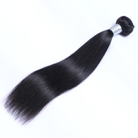 Wholesale 1bundle hair online - Malaysian Virgin Human Hair Straight Unprocessed Remy Hair Weaves Double Wefts g Bundle bundle Can be Dyed Bleached