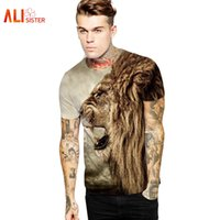 Wholesale Galaxy Bieber - Wholesale- New Fashion Lion Head Hip Hop T Shirt Print Galaxy T-shirt Women men Tees Summer Style Pizza Cat  Justin Bieber T Shirt Camiseta