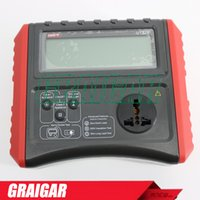 Wholesale Ground Resistance - Safety Testers UNI-T UT528 Battery Powered PAT Meter Insulation Ground Resistance Tester+Cord Test+Out with Testing+Leakage Test