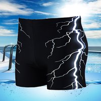 Wholesale Boy Short Swim Bikini - Wholesale- Men Swimsuit Beach Board Surf Swimming Trunks Sports Suits Sexy Men print Swimwear boy Swim Boxer Shorts Men Bikini Swim Trunks