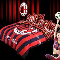 Wholesale classic european football bedding set queen double full twin size duvet cover bed sheet pillow cases bedclothes