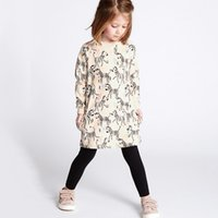 Wholesale Clothing Style Costumes Princess - Kidsalon Baby Girls Dress Winter 2017 Brand Christmas Dress Princess Costume Vestidos Animal Print Kids Cotton Dresses Children Clothes