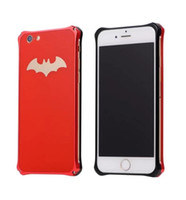 Wholesale Oppo Case Metal - Slim Bat Batman Aluminum Metal Hard Case Exquisite Protective Back Cover For iphone 8 7 6S 6 plus OPPO R11 R9s plus OPPBag