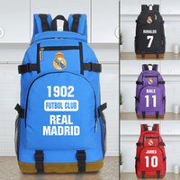 Wholesale Golf Computer - landy house 2017 The basketball team Real Madrid football club computer backpack shcool bags sports backpack team Souvenirs
