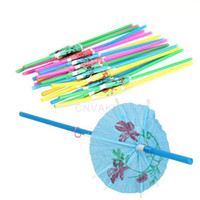 party supplies - 2000pcs Plastic Straw Cocktail Parasols Umbrellas Drinks Picks Wedding Event Party Supplies Cocktail Decorations WA0535