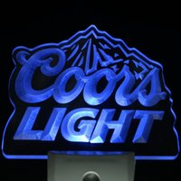 Wholesale Led Coors Light Signs - Wholesale- ws0002 Coors Light Bar Beer Decor Day  Night Sensor LED Night Light Sign