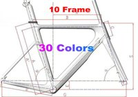 Wholesale Carbon Matte Frame - 30 New Colors Carbon Road Frame Carbon Bike Frame 3K 1K 44cm to 59.5cm Avaliable