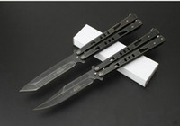 Wholesale 3cr13mov Knife - 4 Styles Microtech tachyon II Tanto bowie balisong Butterfly JL-20 3Cr13Mov tactical folding knife stonewashed outdoor camping hiking edc