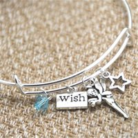 ingrosso bracciali a campana-12pcs peter pan Trilli ispirati al braccialetto Bell Wish Trilli la seconda stella a destra braccialetto braccialetto di fascino