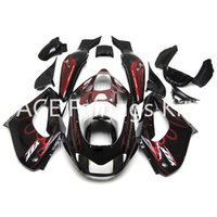 Wholesale 1997 yamaha yzf fairings resale online - 3 gift New Fairings For Yamaha YZF R Year ABS Plastic Bodywork Motorcycle black flame