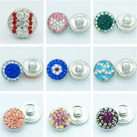 Wholesale Handmade Jewelry For Sale - Hot sale Beauty baseball flowers rhinestone&Clay handmade 12MM snap buttons for DIY ginger snap bracelets Accessories charm jewelry