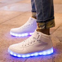 Chaussures Led Homme USB Light Up Chaussures Unisex Sneakers Lovers For Adults