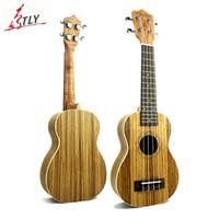 """Wholesale Zebrawood Soprano Ukulele - Wholesale-Mcool New 21"""" Soprano Mini Guitar Ukulele Brazil Zebrawood Hawaii 4 Strings Ukelele Uke Freeshipping"""