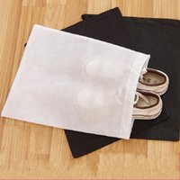 Wholesale d squared shoes online - Reusable Storage Bag Shoe Dust Proof Tote Bags Non Wovens Drawstring Case Breathable Eco Friendly Container Easy To Clean ld D R
