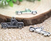 suministros de camiones al por mayor-20pcs- Antique Tibetan Silver Pickup Charms colgantes, suministros de bricolaje, fabricación de joyas 14x26mm