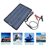Wholesale Moto Battery Charger - charger moto ECO-Worthy 18V 10W Portable Solar Panel Multi-Purpose Solor Charger for 12V battery Cars Boat Motorcycle Solar Panel