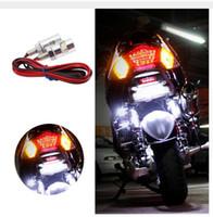 plaque d'immatriculation en gros achat en gros de-vente en gros nombre universel moto LED plaque d'immatriculation lumière vis boulon lampe SMD pour moto moto 12v blanc LED