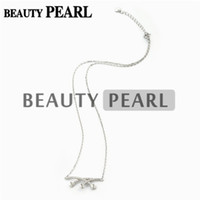 Wholesale Wholesale Sterling Silver Chains Bulk - Bulk of 3 Pieces Necklace Blank for Pearls Zircon Mounting 925 Sterling Silver Chain Base with 3 Blanks