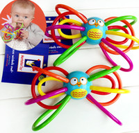 Wholesale Hand Bell Baby Toys - Wholesale- Teeth that owl babies hand grasp a noise ball tooth gum wholesale baby educational toys a bell