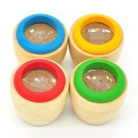 arı gözü oyuncağı toptan satış-Arı Gözü Ilginç Etkisi Sihirli Ahşap Kaleidoscope Oyuncaklar Çocuklar Için Okul Öncesi Eğitim Oyuncak Çok Renkli 2 85bz C