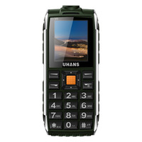 "Wholesale Easy Sim - Original Uhans V5 Older Mobile Phone 1.7"" WaterProof Single Core Dual Easy Operate Speaker 2500mAh Led light Power Cell phone"