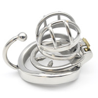 Wholesale large stainless steel chastity device resale online - Stainless Steel Male Chastity large Cage with Base Arc Ring Devices C273 C273