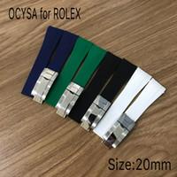 ingrosso branding di orologi-Cinturino in gomma marca COYSA per ROLEX SUB 20mm nuovi accessori per orologi impermeabili morbidi e durevoli con fibbia originale in acciaio