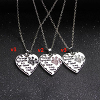 Wholesale European Claw - European and American jewelry creative personality no longer by my side love necklace with set auger dog's claw necklace