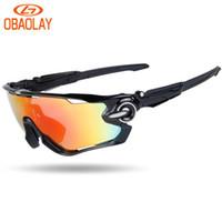 Wholesale Mountain Bike Riding Glasses - OBAOLAY Brand Radar Polarized Sports Men Sunglasses Road Cycling Glasses Mountain Bike Bicycle Riding Protection Goggles Eyewear