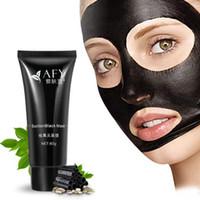 máscara de poro de lama preta venda por atacado-2017 AFY sucção máscara Preta removedor de nariz limpeza profunda máscara facial cuidados com o rosto natureza Poros Limpo máscara de lama preta 60g