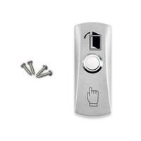 puertas de acceso de acero inoxidable al por mayor-Llaves de plata de botón de salida de emergencia del interruptor de liberación de la puerta de acero inoxidable de alta calidad de envío gratuito al por mayor para el sistema de control de acceso-LH