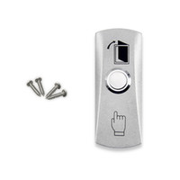 Wholesale exit buttons - Wholesale- Free shipping high quality stainless steel door release switch emergency exit button silver keys for access control system-LH
