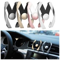 Wholesale Materials For Mobile - M Mobile Car Phone Holder Air Vent Mount Mobile Phone Stand Holder Universal For iPhone Samsung HTC LG Sony ABS Material