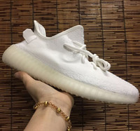 Wholesale Uv Light Show - Cream White 350 v2 Boost Shoes, Sply 350 Triple White Kanye West Sneakers on Sale - UV black Light to show alternate tooling off