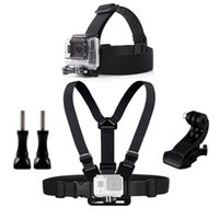 Wholesale mask straps - Chest Head Belt Mount For Gopro Hero 5 4 accessories Set SJCAM SJ4000 Action Camera J mount for Head Harness Strap