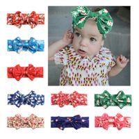 Wholesale Kawaii Baby Headbands - Baby Christmas Headband Kawaii Fashion Kids Accessories Soft Kid Hair Band With Bow For Kid Girl