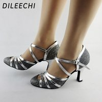 Wholesale Top Quality Latin Dance Shoes - TOP Sneakers DILEECHI Winter and Autumn Quality pearl net Latin modern dance shoes Ballroom dancing shoes soft outsole Tango Waltz shoes